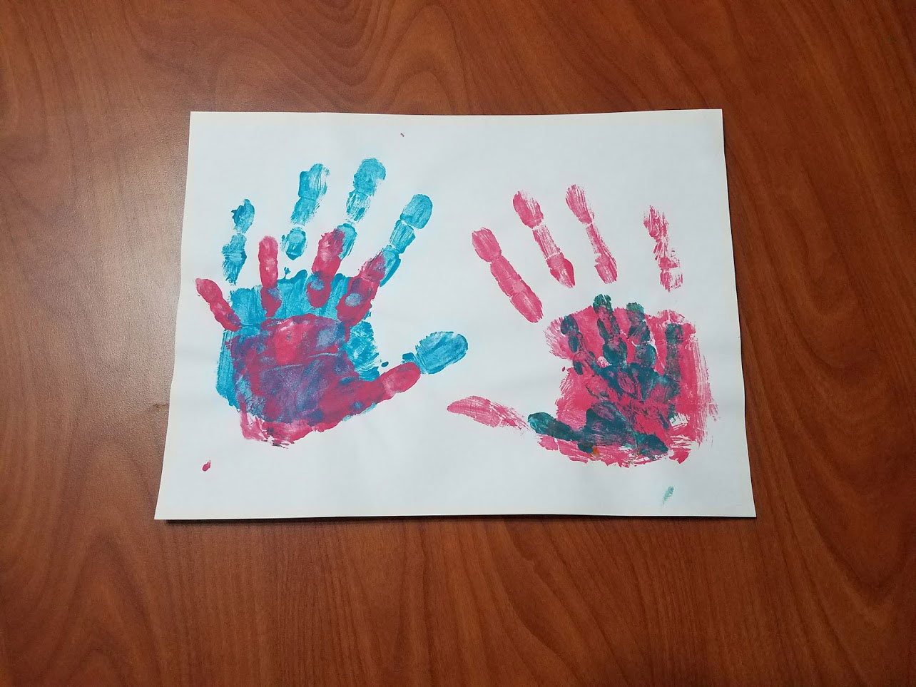 Family handprint hand painting craft